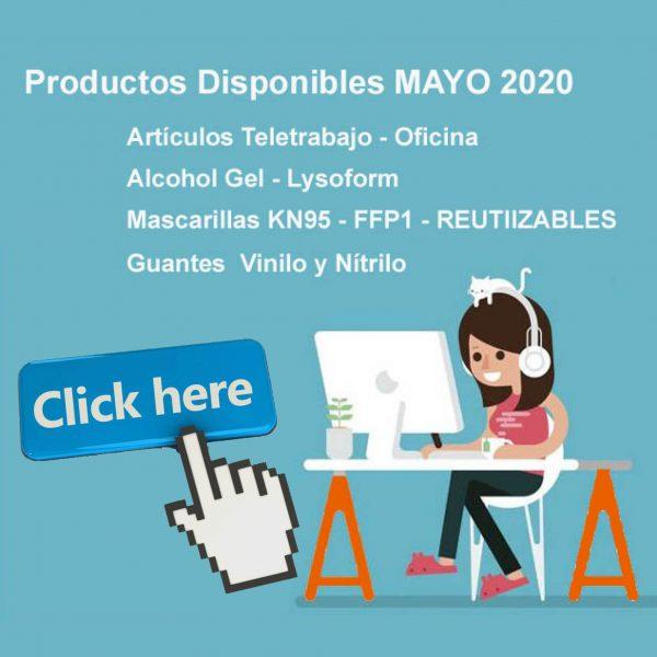 ¡¡PRODUCTOS DISPONIBLES MAYO 2020