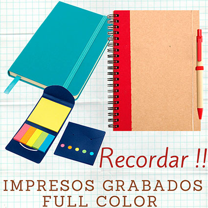 Cuadernos, Libretas, Post-It